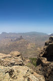 Inland Central Gran Canaria, view west from Roque Nublo Royalty Free Stock Image