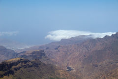 Inland Central Gran Canaria, view west from Roque Nublo Royalty Free Stock Photography