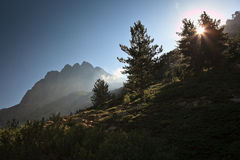 Inland Corsica, splendid Restonica Valley Stock Images