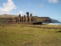 Inland Facing Moai Royalty Free Stock Photos