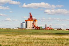 Inland grain storage terminal Royalty Free Stock Image