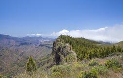 Inland Gran Canaria, hiking path Royalty Free Stock Images