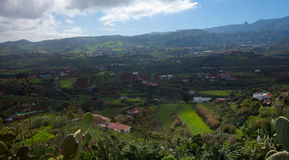 Inland Gran Canaria, view towards central mountains Stock Image