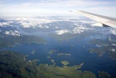 Inland Lakes. The Kenyir Lake was a man made lake Royalty Free Stock Photography