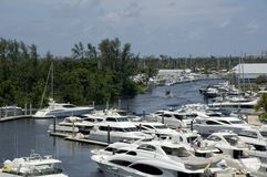 Inland marina Royalty Free Stock Photography