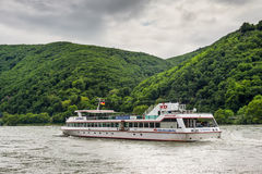 Inland Passenger Vessel Godesburg on the Rhine River Royalty Free Stock Photography