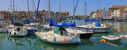 Inland port weymouth, dorset. Iner port weymouth with sailing boats, dorset stock photo