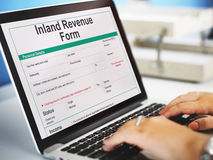 Inland Revenue Form Details Concept Royalty Free Stock Images
