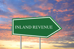 Inland revenue sign Stock Photography