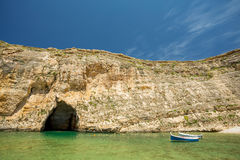 Inland sea, Malta. Inland sea, cave and boats in Malta Stock Photography