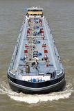 Inland tanker vessel. Shipping on the river Rhine Stock Photo