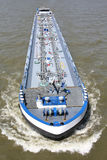 Inland tanker vessel. Shipping on the river Rhine Stock Photos