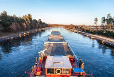 Inland vessel drives Royalty Free Stock Image