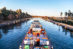 Inland vessel drives Stock Photography
