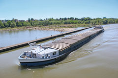 Inland water transportation Stock Photo