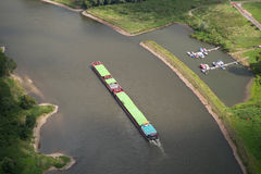 Inland waterway - bird's-eye view Stock Photography