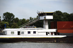 Inland waterway transport Royalty Free Stock Images