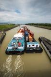 Inland waterway transportation Royalty Free Stock Image