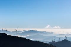 Inland wind farm Stock Photos