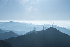 Inland wind farm Royalty Free Stock Images
