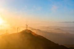 Inland wind farm Royalty Free Stock Image