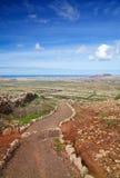 Inlands- Fuerteventura Arkivbild
