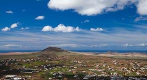 Inlands- Fuerteventura Arkivfoto