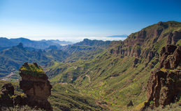 Inlands- Gran Canaria Arkivbild