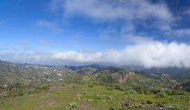 Inlands- Gran Canaria, sikt från Cruz de Talayon Royaltyfria Bilder