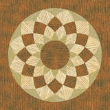 Circular wooden pattern fine inlay texture Royalty Free Stock Photos