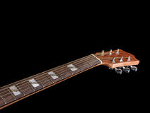 Inlay of guitar on fingerboard Royalty Free Stock Image
