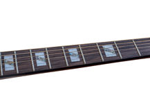 Inlay of guitur on fingerboard Royalty Free Stock Photo
