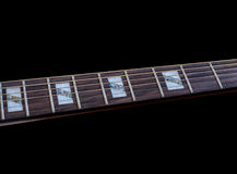Inlay of guitur on fingerboard Royalty Free Stock Image
