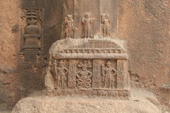 Inlay sculptures in Buddhist cave Stock Photography