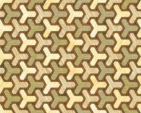 Wood pattern fine inlay texture seamless. Interlocking geometric pattern with different wood color composition. Creative wood art textures. Ready to repeat in stock illustration