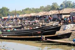 Inle在缅甸的湖视图看法  免版税库存图片