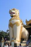 Inle在缅甸的湖视图 免版税库存照片