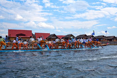 Inle湖在掸邦,缅甸 免版税库存图片