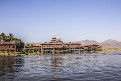 Inle湖的,缅甸修道院 免版税库存照片