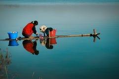 Inle湖,缅甸。 库存照片