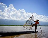 Inle湖,缅甸风景  图库摄影