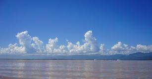 Inle湖,缅甸风景  免版税库存图片