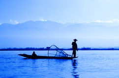 Inle湖,缅甸 库存照片