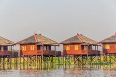 Inle jeziora hotele Zdjęcie Royalty Free