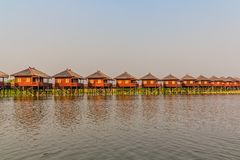 Inle jeziora hotele Fotografia Royalty Free