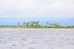 Inle jeziora krajobraz, Myanmar Obrazy Royalty Free