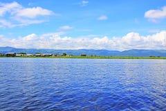 Inle jeziora krajobraz, Myanmar Obraz Stock
