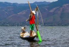 Inle jeziora rybak Obrazy Stock
