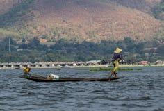 Inle jeziora rybak Zdjęcie Stock