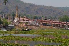 inle jeziorna Myanmar świątynia Zdjęcia Stock